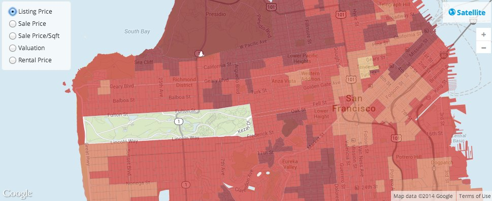 Real Estate Housing Market Heat Map